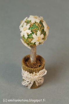 tutorial: mini Christmas topiary