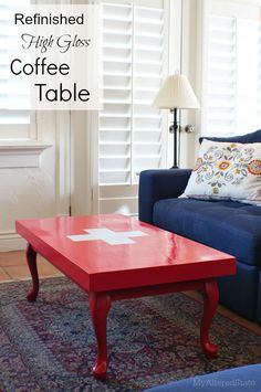Refinished High Gloss Coffee Table