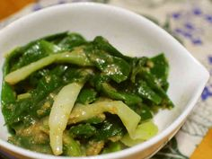 Seaweed Salad, Japanese Food, Green Beans, Spinach, Vegetables, Cooking, Ethnic Recipes, Foods, Kitchen