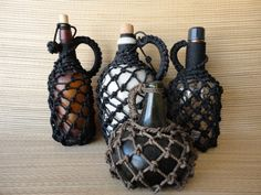 How to finish wrapping a fishing net bottle