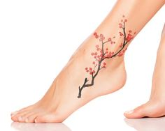 meaningful cherry blossom tattoo for women