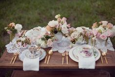 Wedding Table Settings Elegant Bridal Shower 68 New Ideas Tea Table Settings, Wedding Table Settings, Wedding Table Decorations, Bridal Shower Decorations, Vintage High Tea, Vintage Party, Vintage China, Vintage Lace, Vintage Style
