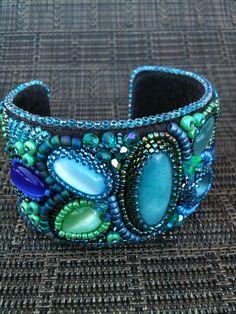 ~~Blue beaded cuff by Karen Lee~~