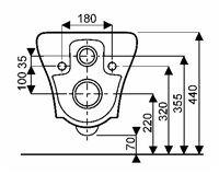 201470000 - MYDAY - WC, suspendus - 54 cm - ALLIA innove pour vous depuis 1892