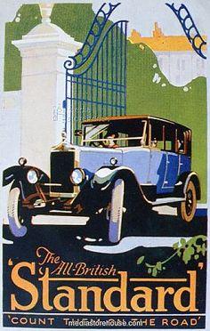Advert for Standard motor cars, 1920s.