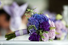 Blue and purple wedding pictures and flower suggestions