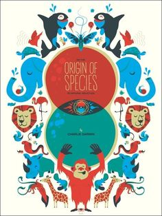 Origin of Species by Charles Darwin. Just took top place for my favorite book cover ever. #amazing