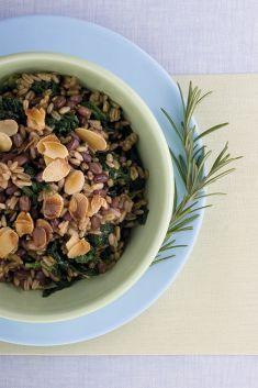 Primo di avena e azuki con spinaci e mandorle tostate - Tutte le ricette dalla A alla Z - Cucina Naturale - Ricette, Menu, Diete