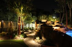 landscape lighting   Lighting around a pool - Houston Landscaping by Aaron and Paul Doud of ...