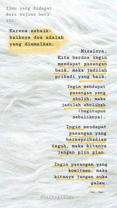 Berdoa untuk mendapat pasangan Self Love Quotes, Strong Quotes, Faith Quotes, Islamic Inspirational Quotes, Islamic Quotes, Book Quotes, Me Quotes, Pastel Quotes, Cinta Quotes