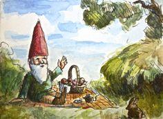 Join the picnic, Mr. Rabbit!  JollyGnome.com