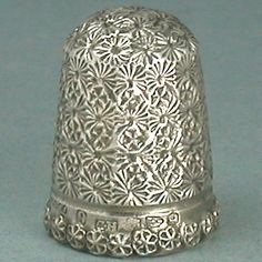 Antique Registered Sterling Silver Thimble by Charles Horner * 1894 Hallmarks