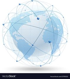 Modern globe network vector image on VectorStock Web Design, Logo Design, Graphic Design, Internet Logo, Great Logos, Single Image, Adobe Illustrator, Vector Free, Globe