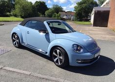 Sport/Convertible , Denim Blue One lady owner from new Full VW Service History New front tyres Leather Tonneau Cover Excellent condition Beetle Convertible, Tonneau Cover, Used Cars, Cars For Sale, Blue Denim, Volkswagen, Sports, Leather, Motorcycles