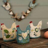 pour paques - felt hens with applique