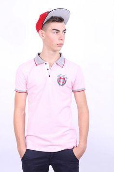 Dsquared 2 Mens M Polo Shirt Pink Cotton Sport Canada - RetrospectClothes