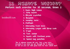 Be Fit Friday: Throwback 12 Minute Workout