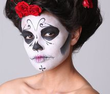 Inspiring picture cheyenne sarfati, day of the dead, dia de los muertos, face, flowers, hair. Resolution: 467x699 px. Find the picture to your taste!