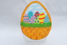 Easter Basket Cookie Jar Lid by MTDesignsCrafts on Etsy, $20.00