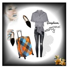 """""""Gingham travel"""" by rhaxkido ❤ liked on Polyvore featuring Nicholas Kirkwood, Michael Kors and Loudmouth"""