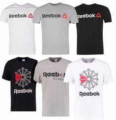 Herren Reebok T-Shirt Kurzarm Rundhals Fitness Baumwolle Größe S-XL CrossFit d45ccabcc58f