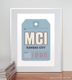 $21 Luggage (baggage) strap tag poster    City: KANSAS CITY, MO  State/Country: Missouri, United States  Airport code/Airport: MCI – Kansas City