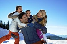 Family ski fun on a luxury holiday :)