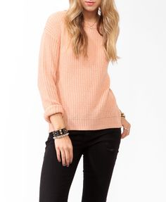 Ribbed Dropped Shoulder Sweater | FOREVER21 - 2025100898