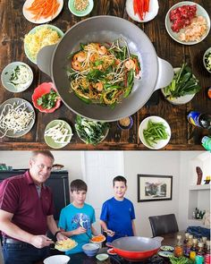 How to DIY Mongolian BBQ at home! Fun interactive dinner with step by step photos. ~ http://steamykitchen.com