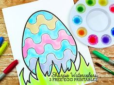 When the kids are feeling artistic, but you've run out paint, break out the markers and make your own Sharpie Watercolor Paints! In fact, not only am I about to show you how to easily make Sharpie Watercolor Paints, but I also have 3 Free Easter Egg Coloring Pages, too. Download Easter Egg Coloring Pages …