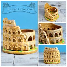 Roman Colosseum 3D Cookie for you to munch on. Made out of deliciously tasty gingerbread. Recipe also on you tube.  Step by step instructions are on my you tube channel. Link to my channel is in my profile.  #hanielas#cookiedecorating#cookieart#roman#colosseum #rome#architecture#edibleart#buzzfeedfood#buckscountypa