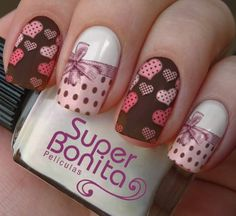 Nail Art Diy, Cool Nail Art, Diy Nails, Manicure, Winter Nails, Spring Nails, Sparkle Nails, Heart Nails, Perfect Nails