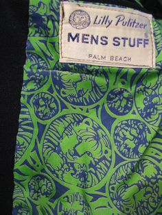 Lilly Pulitzer Mens Stuff navy blue blazer with signature Lilly tiger lining - SOLD.