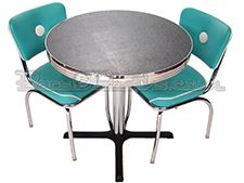 Round Table Top in Turquoise Ebony Boomerang Laminate Kitchen Dinette Sets, Round Table Top, Small Cafe, Aqua, Turquoise, Dining Set, Mid-century Modern, Mid Century, Retro