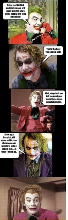 Then Vs Now, joker, batman, evil, funny