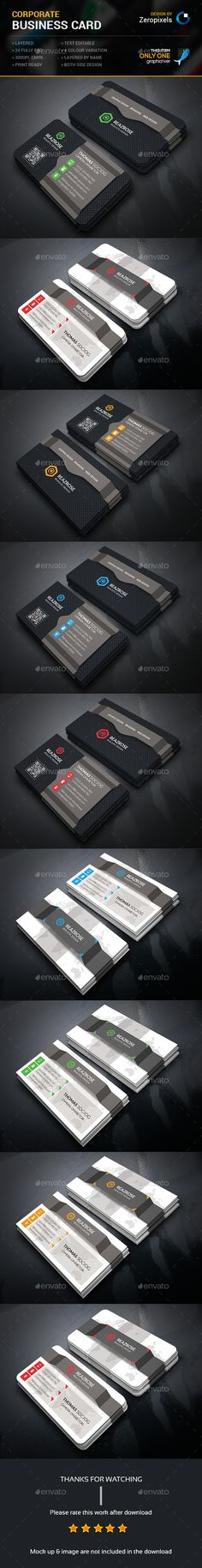 Corporate Business Card Bundle Templates PSD. Download here: http://graphicriver.net/item/corporate-business-card-bundle/16163852?ref=ksioks