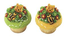 Winnie the Pooh Edible Sugar Cupcake Toppers by ABirthdayPlace, $5.99