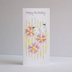Happy Birthday Butterfly flowers £2.70