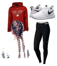 """""""Lazy day"""" by squalle ❤ liked on Polyvore featuring Under Armour and NIKE"""