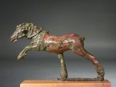 Hellenistic bronze galloping horse.   2nd – 1st century BC.