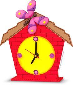 Reloj Casita en Foamy Goma Eva