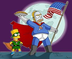 Bart and Homer Simpson. Simpsons Episodes, Simpsons Cartoon, Cartoon Art, Futurama, Bart Simpson, Sims, Kid Cupcakes, Cartoon Shows, Animation