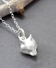 Another great find on #zulily! Sterling Silver Fox Pendant Necklace #zulilyfinds