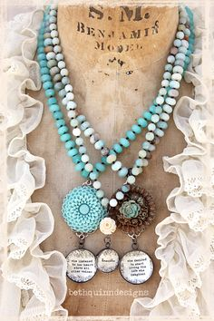 #bethquinndesigns new knotted vintage necklaces