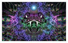 Ophidiaya Print // Psychedelic Men and par ArtofSamuelFarrand