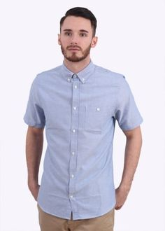 Norse Projects Anton Oxford Short Sleeve Shirt - Navy