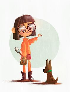 Sketch Dailies: Vilma Dinkley and Scooby Doo | Art of Henry - john de Leon #ScoobyDoo #FanArt