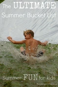 Summer Bucket List - I'm going to try some of these starting this week!