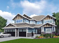 Sunken Great Room and Raised Master Suite - 81641AB | 2nd Floor Master Suite, Butler Walk-in Pantry, CAD Available, Canadian, Craftsman, Den-Office-Library-Study, MBR Sitting Area, Northwest, PDF, Sloping Lot | Architectural Designs