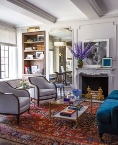 """When Emmy Rossum purchased her pre-war apartment in Midtown Manhattan, she knew it would need a lot of work. The actress enlisted ELLE DECOR and designer Antonino Buzzetta to transform her 800-square-foot """"pied-à-teardown"""" into the home of her dreams. The style Rossum sought to achieve was """"chic, European, the look of a modern girl who … Read More →"""